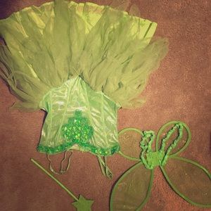Tinkerbell costume size adult small and shoes